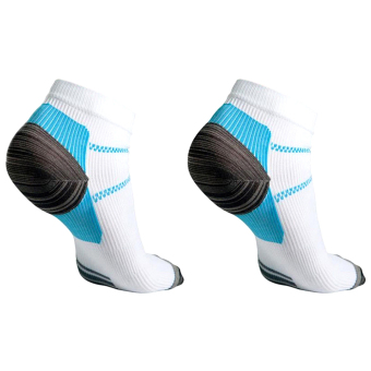 Gracefulvara 1 Pair Foot Compression Sport Socks for Heel Plantar Fasciitis Pain