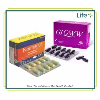 Gut to be Beautiful - Gloww Herbal Dietary Supplement Capsule 30'sand Normagut Probiotic Capsule 30s (12000340, 12000332) Price Philippines