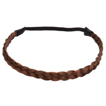 Hang-Qiao Synthetic Hair Bands (Brown)