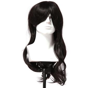 Hang-Qiao Women Synthetic 70cm Long Curly Hair Wigs (Black)