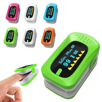 Heart Rate Blood Oxygen Finger Pulse Monitor Oximeter Oxymeter SPO2 PR Monitor - intl