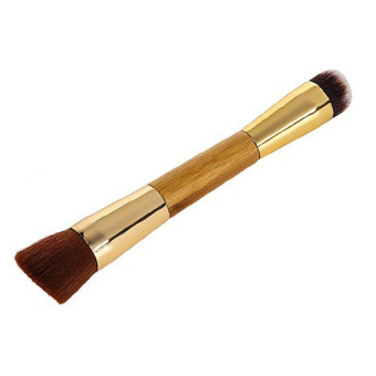 Hequ Makeup Brushes 1 Pcs Tarte Airbuki Bamboo Powder Foundation Brush Contour Make Up Flat Kabuki Kit 02 - Intl