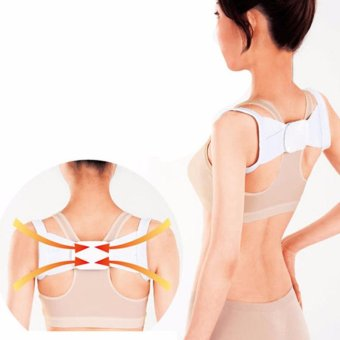 Hot Adjustable Therapy Posture Shoulder Support Band Belt Brace Back Corrector