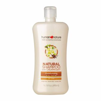Human Nature 100% No Harmful Chemicals Natural Moisturizing Shampoo with CREAMfoam(R) Technology in Lush Vanilla 200ml