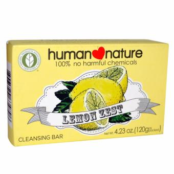 Human Nature Lemon Zest Cleansing Bar Soap 120g