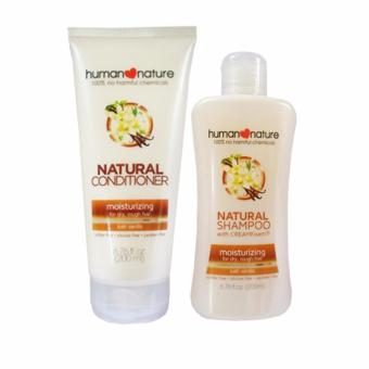 Human Nature Moisturizing Shampoo 200ml and Conditioner 200ml Lush Vanilla