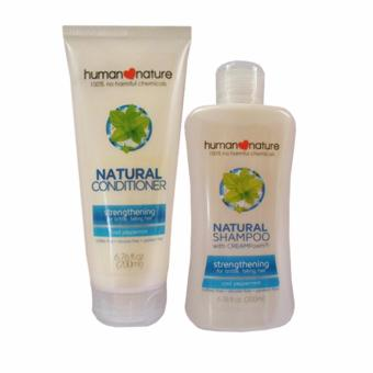 Human Nature Strengthening Shampoo 200ml and Conditioner 200ml Cool Peppermint