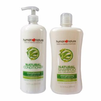Human Nature Strengthening Shampoo 495ml and Conditioner 500ml- Soothing Aloe