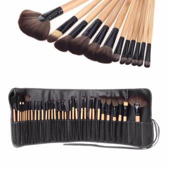 Harga Professional Cosmetic Makeup Brushes Set of 32 (Black&Yellow)