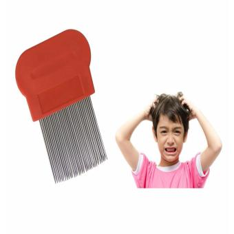 Terminator Lice Nit DANDRUFF Magic Comb Suyod Stainless Steel RED Price Philippines