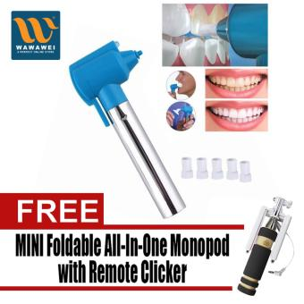 Harga Luma Smile Perfect Home Tooth Whitening and Polisher with Free Mini Foldable All-In-One Monopod with Remote Clicker (Black)