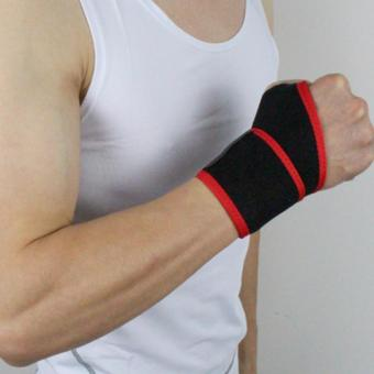 Unisex Acc Wrist Guard Band Brace Support Carpal Pain Wraps Band (Red) - intl Price Philippines