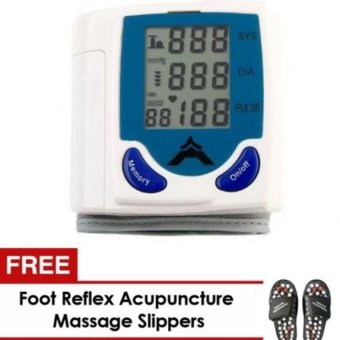 Harga Quality Automatic Wrist Blood Pressure Monitor and FREE Foot Reflex Acupuncture Massage Slippers