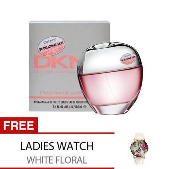 DKNY Be Delicious Fresh Blossom Eau De Toilette for Women 100ml with Free Ladies Watch Price Philippines