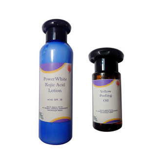 Yellow Peeling Oil Skin Care 30ml with Power White Skin Care Kojic Acid Whitening Lotion With Spf 30 100ml Price Philippines