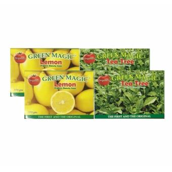 Harga AA&LL - Set of 2 Bundle - Green Magic-Lemon Organic Beauty Soap and Green Magic-Tea Tree Organic Beauty Soap