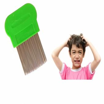 Terminator Lice Nit DANDRUFF Magic Comb Suyod Stainless Steel Green Price Philippines