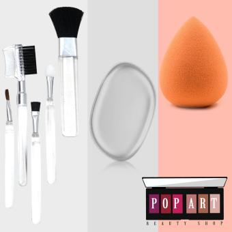 Harga Pop Art Beauty Blender Sponges with Make up Brushes
