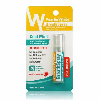 Harga Pearlie White Breath Spray Alcohol Free Cool Mint 100 Sprays