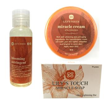 Lily's Touch SET of Miracle Cream 50ml + Blooming Astringent 50ml + Miracle Soap 90g Price Philippines