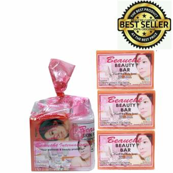 Harga Beauche Beauty Pack Set with 3 Beauty Bar 90gms