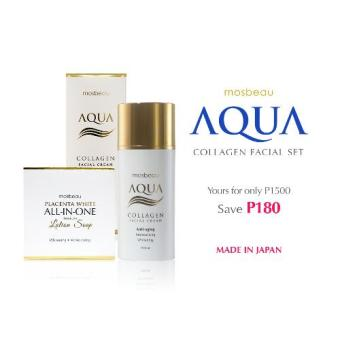 Harga Mosbeau Aqua Collagen Facial Cream with Placenta White All-In-One Premium Lotion Soap Beauty Set