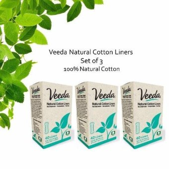 Harga Veeda Liners- 40 ct Folded Natural Liners Set of 3