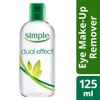 Harga Simple Dual Effect Eye Make Up Remover 125ml