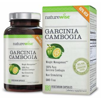 Harga NatureWise Pure Garcinia Cambogia, 100% Natural HCA Extract Supports Weight Loss and Curbs Appetite, 180 Capsules