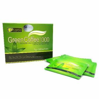 Harga Authentic Leptin Green Coffee 1000 5g x 18 Sachets