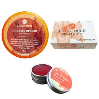 Lily's Touch Miracle Cream 50ml, Miracle Soap 90g, and Red Lip & Cheek Tint Price Philippines