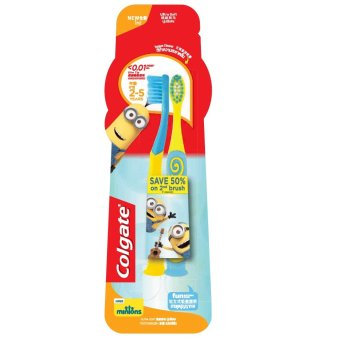 Colgate Minions Junior Toothbrush (2-5 years old) Twin Pack Price Philippines