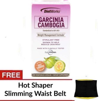 Harga Dietwork Garcinia Cambogia Capsule Bottle of 210 with FREE Slimming Waist Belt