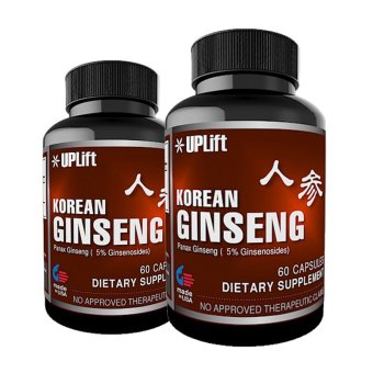 Harga UPLift Korean Ginseng 200mg Capsules Bottle of 60 Set of 2