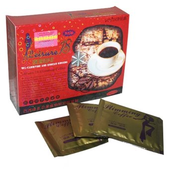 Harga Leisure 18 Slimming Coffee l-Carnitine and Korean Ginseng