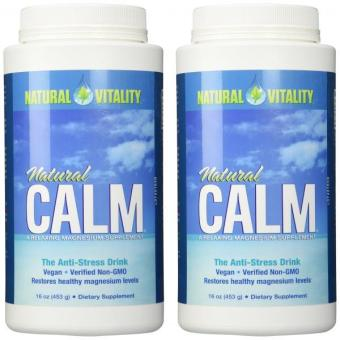 Harga Natural Vitality Natural Magnesium Calm (2 Bottles of 16 Ounce)