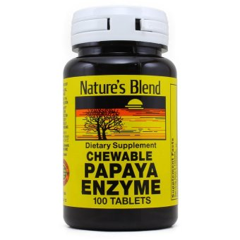 Harga Nature's Blend Chewable Papaya Enzyme, 100 Tablets