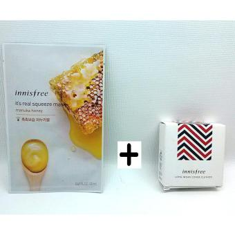 Harga INNISFREE Long Wear Cover Cushion 14g N21 with Manuka Honey Face Mask Korean Cosmetics