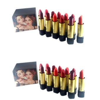 Ashley Shine Matte Lipsticks 12pcs Set of 2 (Multicolor) Price Philippines