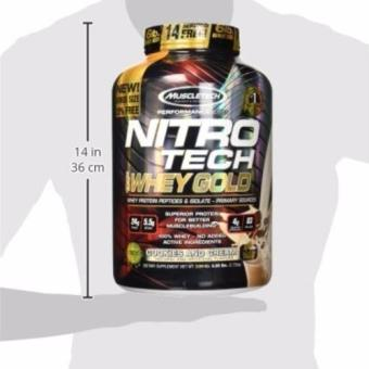 Harga MuscleTech Nitro Tech 100% Whey Gold Muscle Building Powder, Cookies and Cream, 6 Pound