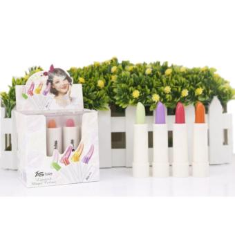 Ashley Shine Lipstick Magic Color 12pcs (Strawberry&Apple&Orange&Grape) Price Philippines