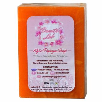 Beaute' Lab Forever Young Kojic Papaya Soap 120 grams Price Philippines