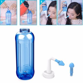 Harga Adults Children Nose Wash System Pot Sinus & Allergies Relief Rinse Neti 500mL - intl