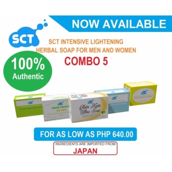 Harga 5 Pieces SCT Intensive Whitening Herbal Soaps Combo 5