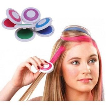4pcs Hot Huez Hues Non-toxic Temporary Hair Chalk Color Powder Dye DIY - intl Price Philippines