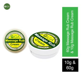 Harga Giga Massage Cream 60g with Massage Cream 10g(Peppermint-Ginger) No Pain Balm