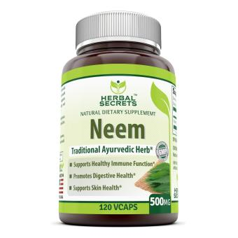 Harga Herbal Secrets Neem 500 Mg 120 Vegetarian Capsules * Promotes Blood Purification Promotes Healthy Immunity And Promotes Health Skin