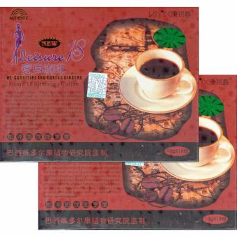 Harga Leisure 18 Slimming Coffee with L-Carnitine and Korean Ginseng, 18 Sachets (Set of 2)