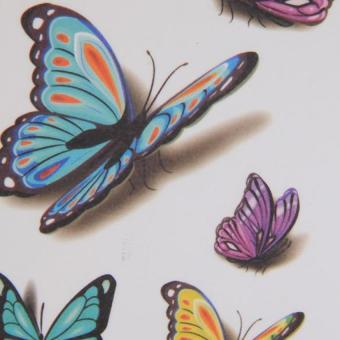 Harga Hang-Qiao Butterfly Stickers Temporary Arm Waterproof Tattoos Fake 3D Tatoo Body Art (Intl) - Intl