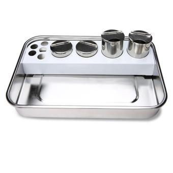 Rectangle Stainless Steel Medical Tray Sterilize Instrument+ 4Buckets - intl Price Philippines